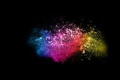 Multi nuvola colorata della spruzzata della polvere Fotografie Stock