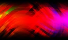 Multi onda abstrata das cores e fundo curvado, rendi??o 3D foto de stock