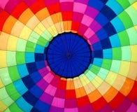 Multi opinião colorida de balão de ar quente do interior Imagens de Stock Royalty Free