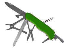 Multi-outil de couteau de poche Photos stock