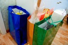 Multi pacchetti colorati Fotografie Stock