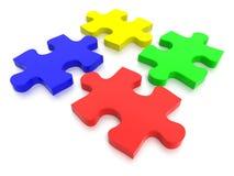 Multi pezzi colorati del puzzle Immagine Stock Libera da Diritti