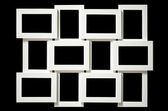 Multi picture frame. Isolated on black Stock Image