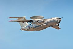 Multi-plane A-50U airborne warning and control. A-50 (a product A, NATO reporting name: Mainstay - «Hold») - aircraft airborne early warning and control stock photo