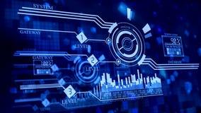 Multi-planierte Brandmauer im Cyberspace lizenzfreie abbildung