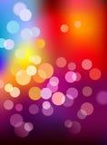 Multi priorità bassa dell'indicatore luminoso di defocus di colore Fotografie Stock Libere da Diritti