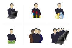 Multi profissionais Imagens de Stock