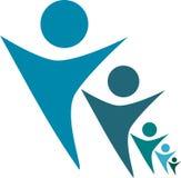 Multi progettazione di logo della gente di dimensione royalty illustrazione gratis