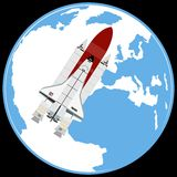 Multi-purpose aerospace system Space Shuttle Royalty Free Stock Image