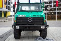 The multi-purpose all-wheel drive truck truck Unimog U2400, 2000. Stock Photography