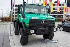 The multi-purpose all-wheel drive truck truck Unimog U2400, 2000. Royalty Free Stock Photography
