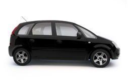 Multi-purpose black car side view Royalty Free Stock Photos