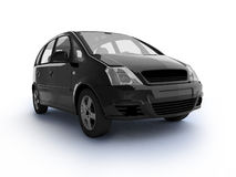 Multi-purpose black car top view Stock Photography