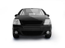 Multi-purpose black vehicle front view. New modern car realistic illustration on white background. For more colors and views please check my portfolio Royalty Free Stock Photo