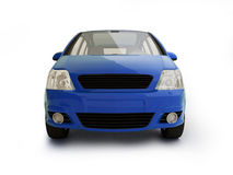 Multi-purpose blue vehicle front view. Large modern car realistic 3 illustration on white background with shadow. For more colors and views of this car please Stock Photo