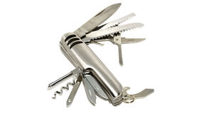 Multi-purpose folding knife Royalty Free Stock Images