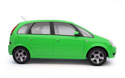 Multi-purpose green car side view vector illustration