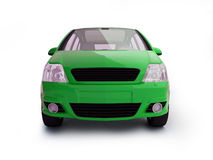 Multi-purpose green vehicle front view. Realistic 3d illustration of a car on white background with shadow Stock Photography