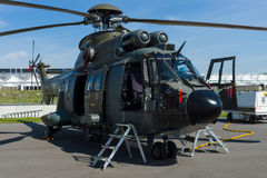 Multi-purpose helicopter Eurocopter AS332 Super Puma. BERLIN, GERMANY - MAY 21, 2014: Multi-purpose helicopter Eurocopter AS332 Super Puma. Swiss Air Force Stock Photo