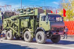 Free Multi-purpose Mobile Communication Complex. Telecommunication Complex P-260T `Redut-2US` With Antenna Module R-431AM In The Cit Royalty Free Stock Photos - 145218168