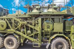 Free Multi-purpose Mobile Communication Complex. Telecommunication Complex P-260T `Redut-2US` With Antenna Module R-431AM In The Cit Stock Photos - 145224103