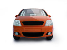 Multi-purpose red vehicle front view Royalty Free Stock Photos
