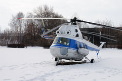 Multi-purpose small helicopter MI2. There is small multipurpose helicopter. This helicopter is very helpful for rescue, passengers agricultural. The MI 2 was Royalty Free Stock Photos
