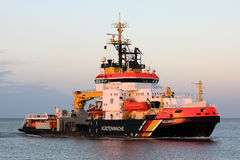 Multi-purpose vessel NEUWERK on the river Elbe Royalty Free Stock Images