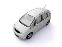 Multi-purpose white car top view Royalty Free Stock Image