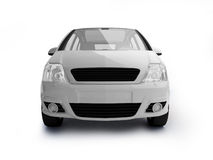 Multi-purpose white vehicle front view. New glossy car realistic illustration on white background. For more colors and views of this car please check my Royalty Free Stock Images