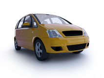 Multi-purpose yellow car Royalty Free Stock Image