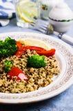 Multi quinoa colorido cozinhado Imagem de Stock Royalty Free