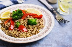 Multi quinoa colorido cozinhado Fotografia de Stock