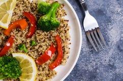 Multi quinoa colorido cozinhado Imagem de Stock