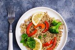 Multi quinoa colorido cozinhado Foto de Stock