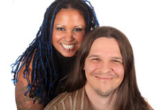 Multi race couple Stock Photos