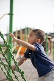 Multi-racial boy at the park Stock Photo