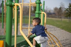 Multi-racial boy at the park Royalty Free Stock Photography