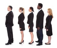 Multi-racial groep bedrijfsmensen Stock Foto's