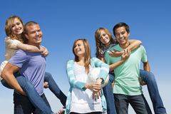 Multi-racial group Having Fun together stock image