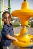 Multi-racial Junge am Park Lizenzfreie Stockfotografie