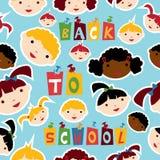 Multi-racial onderwijspatroon Stock Afbeeldingen