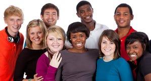 Multi-racial studenten op wit royalty-vrije stock foto