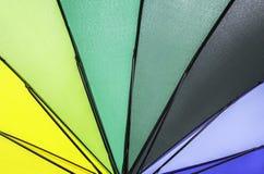 Multi rainbow  umbrella pattern Stock Photo