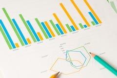 Multi Rassenschranke und Radialdiagramme mit pensils Stockfotografie