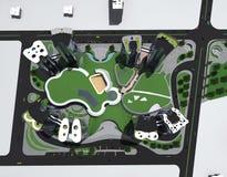 Multi residental комплекс Стоковое Изображение