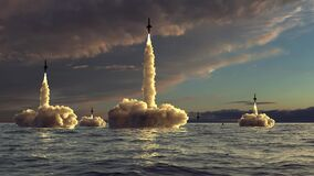Rocket Take off in the sea