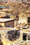 Multi-ruimtewoning in Talensi-Dorp, Ghana stock afbeeldingen