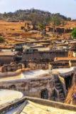 Multi-ruimtewoning in Talensi-Dorp, Ghana stock foto