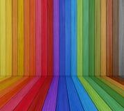 Multi sala de madeira colorida ilustração do vetor